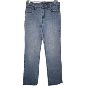 French Cuff Light to medium wash blue Jeans womens size 8